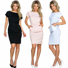 Plus Size Short Sleeve Business Dresses for Women