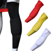2PCS Child Adult Sport Basketball Honeycomb Pad Crashproof Knee Leg Sleeve Brace