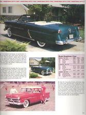 1952 Ford Sunliner Convertible + Crestline Victoria + Wagon + F1 Pickup Article