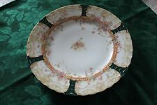 Haviland and Limoges Plate with Floral, Green, and Gold Designs
