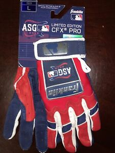 Franklin CFX Chrome 2019 All Star Game Youth Batting Gloves Large Size.