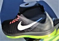 NIKE ZOOM ALL OUT FLYKNIT MID SIZE 7  BLACK WHITE VOLT OREO 844134-002