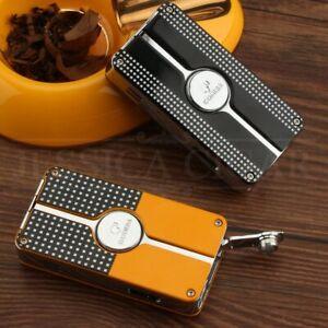 COHIBA Metal Cigar Lighter UK SELLER Windproof 3 Jet Flame Cigarette Lighters