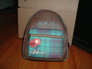 LOUNGEFLY DISNEY BRAVE PLAID MINI BACKPACK~ WITH TAGS~BRAND NEW~
