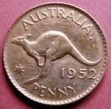AUSTRALIA  SCARCE  VINTAGE  1952  ONE PENNY  COIN   IN A VERY COLLECTABLE GRADE