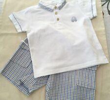 COCCOLI set cotton shirt top + shorts outfit siz 18 month 76-85 cm Boys Children