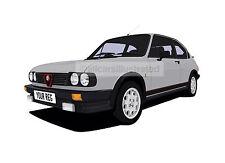 ALFA ROMEO ALFASUD CAR ART PRINT (SIZE A4). CHOOSE CAR COLOUR, ADD REG DETAILS