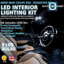 BMW MINI R58 COUPE LED INTERIOR COMPLETE FULL KIT SET BULB XENON WHITE COOPER S