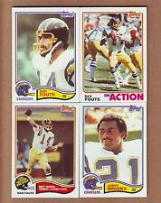 COMPLETE 1982 Topps San Diego Chargers TEAM SET - 3 Dan Fouts, 2 Kellen Winslow