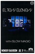 El Ten Eleven 2013 Gig Poster Portland Oregon Concert