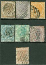 EDW1949SELL : STRAITS SETTLEMENTS 1867-72 Scott #10, 12-17 Used Nice Cat $153.00