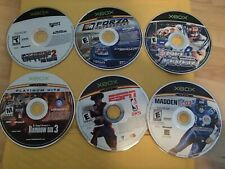 Lot of 6 xbox disc only games-Forza, Rainbow six 3, NBA 2k5, Madden 07,
