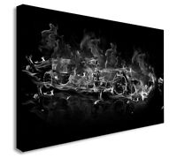 F1 FORMULA 1 ABSTRACT CAR BLACK AND WHITE  Canvas Wall Art Print. Various Sizes