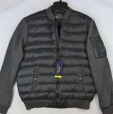 Polo Ralph Lauren Puffer Quilted Down Jacket Black/Grey Coat L Large NWT $198