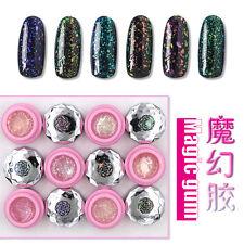6 Colors 3G Glitter Sequins Magic Gum Che Gel UV LED Soak Off Nail Art Polish