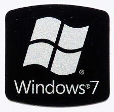 REPLACEMENT WINDOWS 7 BLACK STICKER LOGO AUFKLEBER 17,5x17,5mm [356]