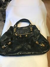 Balenciaga Dark Green Handbag With Large Gold Studs Rare 7fec2118fa