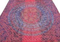 Couvre-lit indien Fait à la main Broderie Dessus de lit Couverture Boho Rouge R