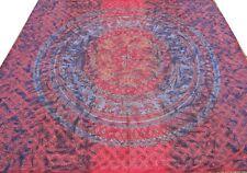 Couvre-lit indien Fait à la main Broderie Dessus de lit Couverture Boho Hippie R