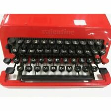 Olivetti Valentine Vintage Typewriter Red Bucket From Japan Ver Rare