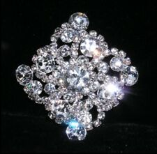 Diamond Rhinestone Silver Plated Button Sewing Crafts Women Sparkly Jewelry