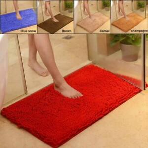 Non-slip Bath Mat Microfiber Rugs Bathroom Bedroom Shower Carpet Mat Pad 60x40cm