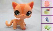 Littlest Pet Shop Short Hair Cat Orange Peach LPS 1764+1 FREE Access 100% Authen