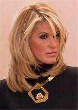 Blonde Medium Straight Layered Bob Hairstyles Synthetic Hair Capless Wigs