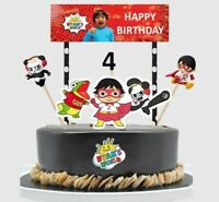 Ryans World Birthday Cake Topper, Party Supplies  Made of Card Stock Paper