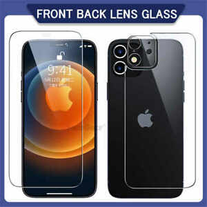 F+B+Camera Lens Tempered Glass Screen Protector For iPhone 12 11 Pro Max X Cover