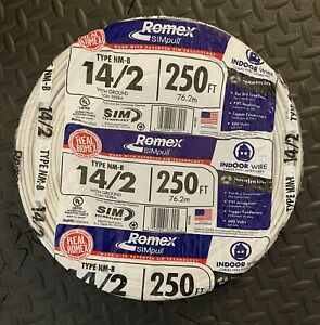 Southwire Romex SIMpull 250-ft 14-2 600v & 14 AWG Wire NM-B