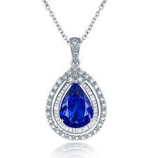 18ct White Gold Stunning Natural Tanzanite and Diamonds Pendant GBP £18500