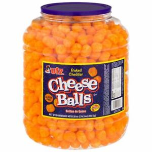 Utz Cheese Balls – 35 Ounce Barrel (2 lbs) – Made with Real Cheese