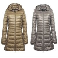 Womens Long Quilted Puffer Coat Puffa Parka Padded Down Jacket Hooded Winter New