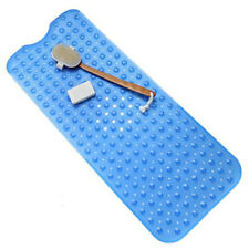 Bath Tub Blue Bath Mat Non Slip Safety Anti Skid Shower Protection Extra  Long US