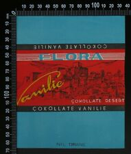 5 Original Vintage Flora (Albania) Mixed Chocolate Wrappers 1960's