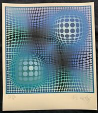 VICTOR VASARELY - lithograph signed on original paper of 70's -FENY-