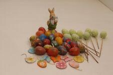 Ostern Dekoration Osterei gefärbt zum Hängen oder Stecken Osterhase Osterdeko