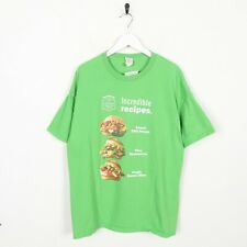 Vintage Novelty Graphic Sandwich T Shirt Tee Green | XL