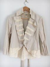 TRELISE Cooper Dress Jacket Cream White Long Sleeve Military Style Layered Bow 8