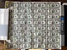 1993F $2 32-subject Uncut Sheet Atlanta Georgia. Starting at face value