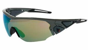 BZ Optics Sports Sunglasses - CRIT Graphite Frame - Green Mirror HD  Lens
