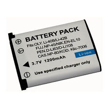 REPLACEMENT BATTERY For OLYMPUS Li40B LI42B FUJI NP-45 PENTAX D-Li63 D-Li108