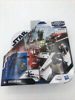 """STAR WARS Mission Fleet Mandalorian Speeder Bike IG-11 CHILD Grogu 2.5"""" Bad Box"""