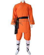 Orange Cotton Shaolin Monk Robe Kung fu Tai Chi Suit Martial arts Uniforms