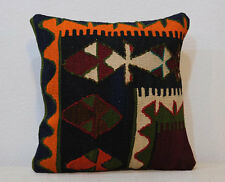 16''x16'' Anatolian Boho Cottage Pillow Turkish Kilim Pillowcase Ethnic Cushion