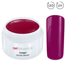 Color UV Gel LED FARBGEL PURPLE DELUXE French Modellage NailArtDesign Nagel Lila