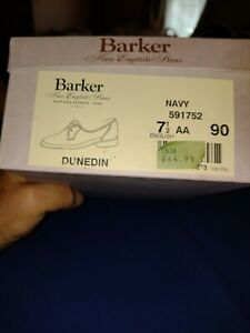 Barker Ladies Dunedin Boxed Shoes Navy Lace Up - Leather - Size 7.5