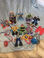 Fisher Price Rescue Heroes - 9 Figure Bundle - Includes Falcon & Accessories