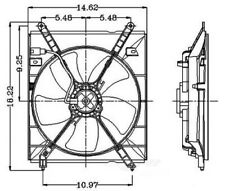 Auxiliary Fan Assembly For 2000-2001 Toyota Camry 2.2L 4 Cyl 2811252